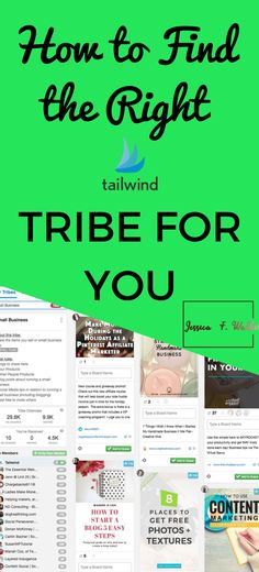 How to find the right Tailwind Tribes for you. #pintereststrategies #pinterestmarekting #pinteresttools #tailwindtribes