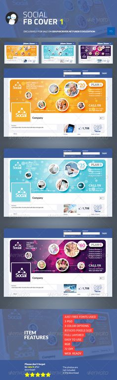 Social Facebook Cover 1 — Photoshop PSD #talk #people • Download here → https://graphicriver.net/item/social-facebook-cover-1/6783158?ref=pxcr