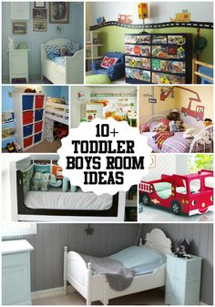 10+ Toddler Boys Room Ideas! Great collection of rooms that any little boy would dream of! These are so cute. Check out the whole collection at Designdazzle.com