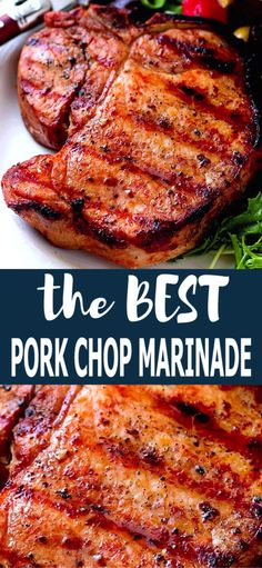 Grilled pork chop marinade – Grilled pork chop marinade – another delicious reason to use your grill! – Grilled pork chop marinade – Grilled pork chop marinade – another delicious reason to use your grill! Easy Pork Chop Recipes, Grilling Recipes, Pork Recipes, Pork Marinade Recipes, Best Grill Recipes, Barbecue Recipes, Cake Recipes, Recipies, Vegetables