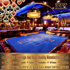 Turnkey Casino Projects..www.777merlin.com High Quality Casino Equipments Manufacturing Design + Project + Production + Assembly