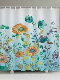 Birds Tree Branch Flower Print Shower Curtain In 2018