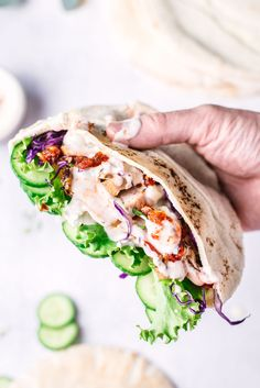 Grilled Chicken Shawarma Pita Pockets