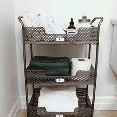 Bathroom storage ideas.