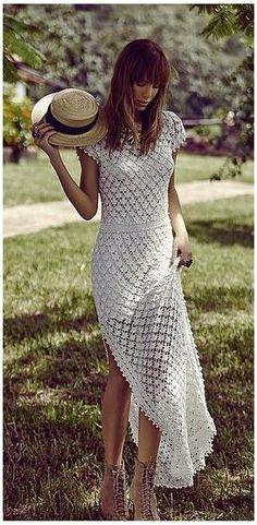 Alzira Vieira white crochet dress