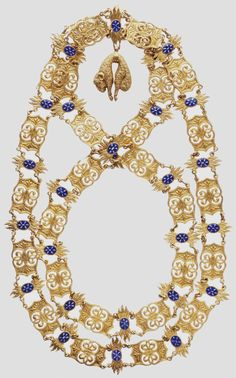 Spain, Golden Fleece, collar in gilded silver, with 56 chain links, made for exposition purposes. 01