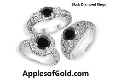 Make Your Big Day Intense By Gifting Your Better Half a Black Diamond Ring   ApplesofGold.com