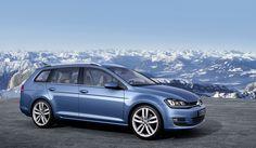 Foto Exteriores (2) Volkswagen Golf variant Familiar 2013 blue azul