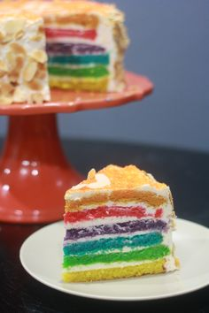 Ultimate Burnt Almond Rainbow Layer Cake (Sugar Free, Low Carb, Gluten Free) - Our Toasty Life