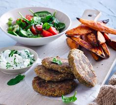 These veggie burgers taste delicious hot or cold. Roll into small balls, making them into falafel if you prefer