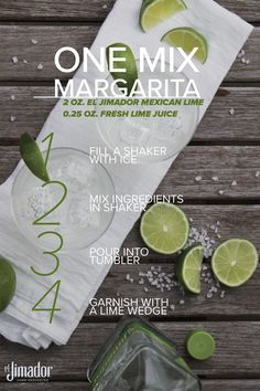 Celebrate this summer with easy to make and refreshing el Jimador Mexican Lime One Mix Margaritas. Impress your friends with this classic cocktail in 4 simple steps. Because every day can be Margarita Monday… Salud!
