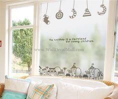 Fog Clock Sheet Wall Sticker by walloo Wall Stickers Stars, Wall Stickers Home Decor, Modern Wall Decals, Cartoon Wall, Baby Bedroom, Bedroom Wall, Dark Star, Star Wall, Baby Kids