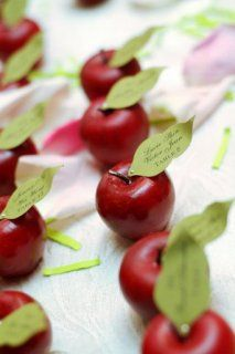 Apple place cards. Cute idea.