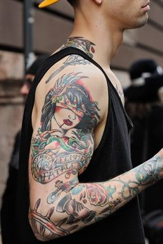 Shoulder, forearm or rib placement. Really like the Femme Fatale idea/design.