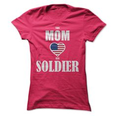 (Tshirt Great) This Mom Loves Her Soldier [Tshirt Facebook] Hoodies Tee Shirts