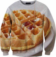 Waffles Sweater Crewneck Sweatshirt by YeahWhateverz on Etsy, $59.87