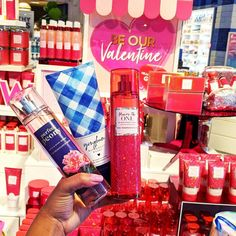 "Bath & Body Works on Instagram: ""Beautiful 🌸 , fresh 💙 & sparkling ✨ fragrances — yes, please! Comment your #1 pick & tag your Valentine too for a gift hint! 😉"" Valentine Decorations, Bath And Body Works, Happy Valentines Day, Fragrances, Red Roses, It Works, Perfume, Fresh, Gifts"