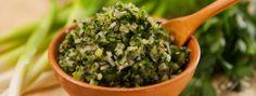 Herbes salées aux oignons verts Pesto Sauce, Salad Dressing, Parsley, Preserves, Cooking Tips, Herbs, Plants, Tv, Food