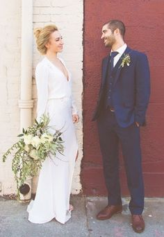 We can't stop staring at this city hall wedding photos