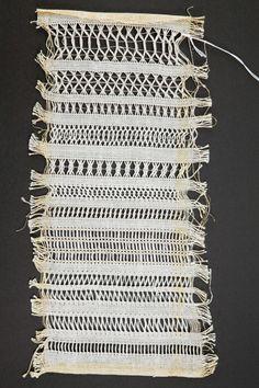 drawn thread sampler 1960s