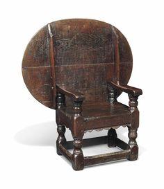 Charles I Oak Chair/Table