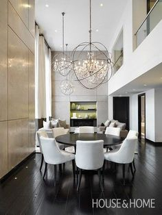 south shore decorating blog repeating light fixtures dining room designdining - Modern Contemporary Dining Room Chandeliers