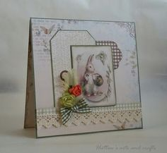 Hutton's arts and crafts Pion Desing Fairytale of Spring Handmade Easter card