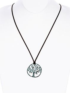AGED FINISH METAL,TREE OF LIFE PENDANT,NECKLACE,NICKEL AND LEAD COMPLIANT  $10.50