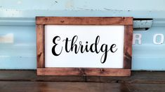 Est. Signs made by RusticAntlerShop on Etsy!