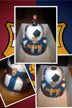 Lionel Messi theme football cake
