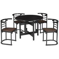 "Josef-Hoffmann - ""Fledermaus table and chairs"" - 1980s"
