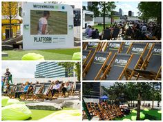Wimbledon Live - Platform Ruskin Square - 2014 - I was part of the team that organised this event. I sourced the branded deck chairs, props and branded screen for the event.