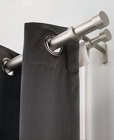 umbra window treatments cappa double rods curtain rods u0026 hardware for the home