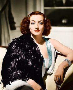 Joan Crawford in color