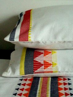 Milka Loom, hand woven pillow cases