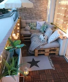 balcony pallet seating