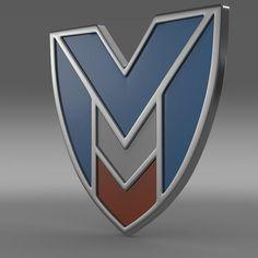 Marussia Logo 3D Model- Verts - 14452 Edges - 28880 Faces - 14440 Tris - 28880 UVs - 17506 - #3D_model #Other 3D Models,#Vehicle Parts,#Other Vehicle Parts