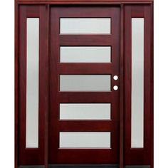 Modern Front Entry Door With Sidelites   Google Search