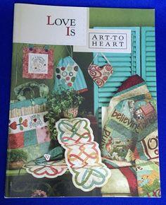 Love Is Art To Heart Quilt Applique Pattern Booklet Nancy Halvorsen Blocks #ArttoHeart