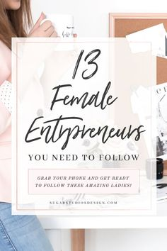 13 Female Entrepreneurs You Need to Follow - Sugar Studios Design Marie Forleo, Creative Business, Business Tips, Business Women, Business Quotes, Home Business Ideas, Business Coaching, Business Video, Life Coaching