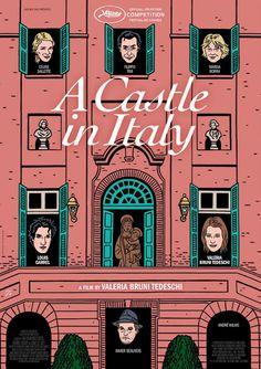 Floc'h Illustrateur L'homme dans la foule Actualité Archives: Un château en Italie, de Valeria Bruni Tedeschi, affiche du film, 2013