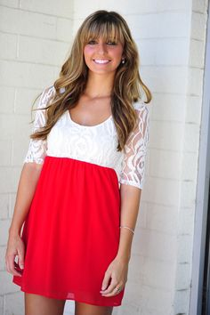 She's So Rosy Dress: Bright Red