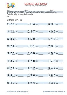 8 Best Grade 2 maths worksheets and free download printable pdf ...