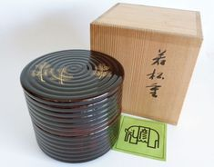 Item specifics: /Made in Japan /Condition : Vintage condition ,Wooden tomobako box /Weight : 586 G /Dimensions : Diameter 12 x H 11 Centimeter Matcha, Wood Bowls, Tea Ceremony, Bento Box, Vintage Japanese, Bowl Set, Vintage Art, Barware, Conditioner