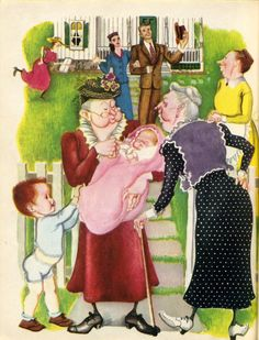 Illustration from The New Baby by Eloise Wilkin
