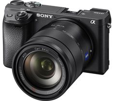 SONY  a6300 Compact System Camera with 16-50 mm f/3.5-5.6 Wide-angle Zoom Lens - Black, Black Price: £ 1097.00 Enjoy professional image quality from a lightweight camera with the Sony a6300 Compact System Camera with 16-50 mm f/3.5-5.6 Wide-angle Zoom Lens . Performance The a 6300 features a 24.2 megapixel Exmor R APS-C type CMOS sensor, allowing to take stunning and creative photographs that...