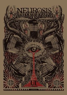 Neurosis Posters by The 13th Sign Collective, via Behance