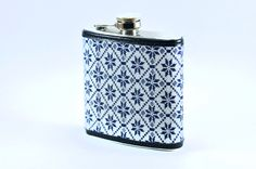 Vintage snowflake fabric turned into this great flask by Keelan Rogue.  Made in Chicago from start to finish.