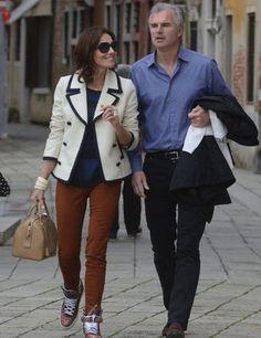 Emmanuel Schreder y Adriana Abascal pasean por Venecia