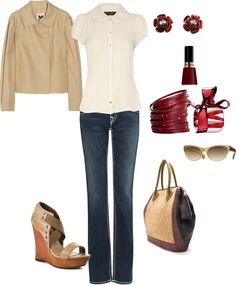"""""""Add a little red to your life"""" by rknudsen ❤ liked on Polyvore"""